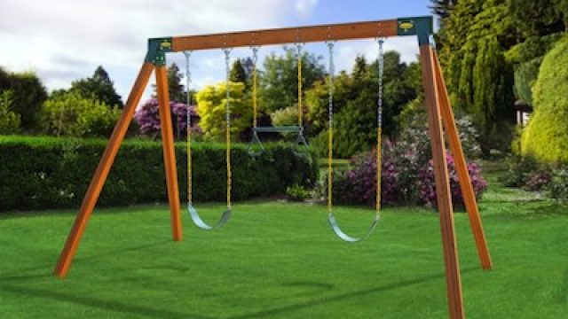 Classic Cedar Swing Set Prize for Swing Set Giveaway