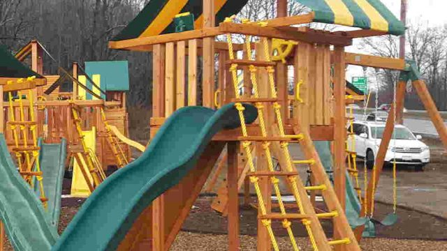 Ultimate Cedar Playset with Large Slide