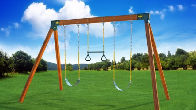 classic a frame cedar swing set