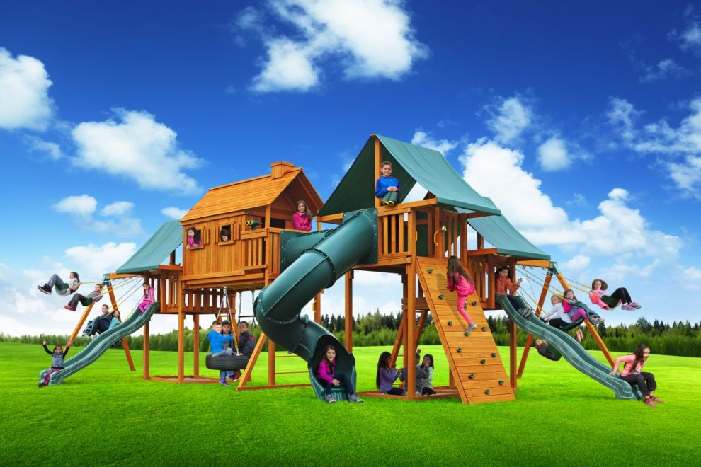 multi deck imagination playset and jungle gym
