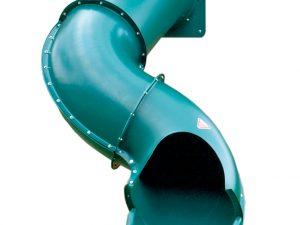 five foot green spiral slide
