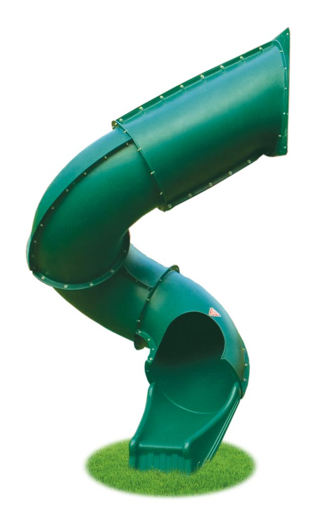 7′ Spiral Tube Slide Green