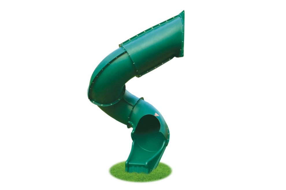 seven foot green spiral slide