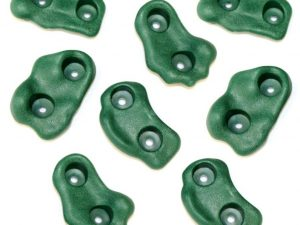 8 pack of green rock wall hand holds swing set accessory
