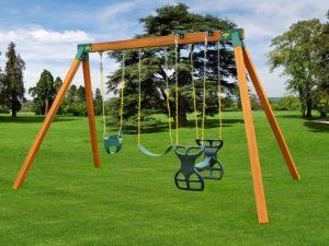 Classic A-Frame Kids Backyard Swing Set