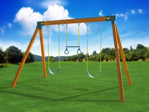 Classic A-Frame Wooden Swing Set