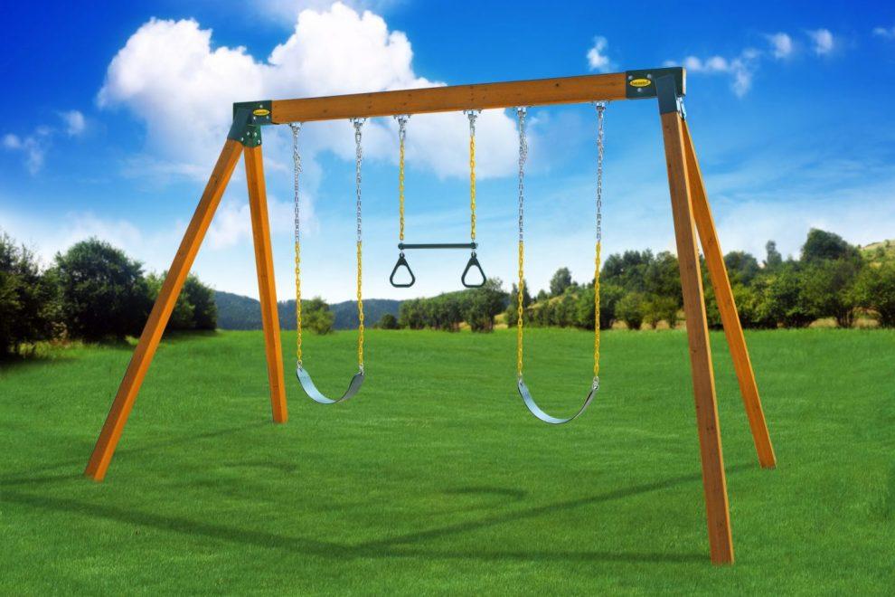 freestanding backyard swing sets
