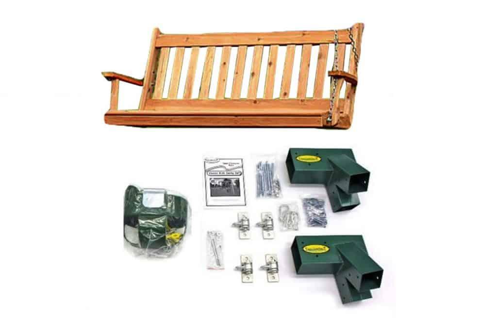 Classic Cedar Bench Swing Hardware Kit