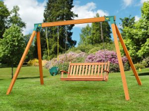 Classic Bench Swing Set with Cedar Wood