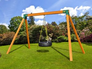 Classic Cedar Swing Set with Tire swing