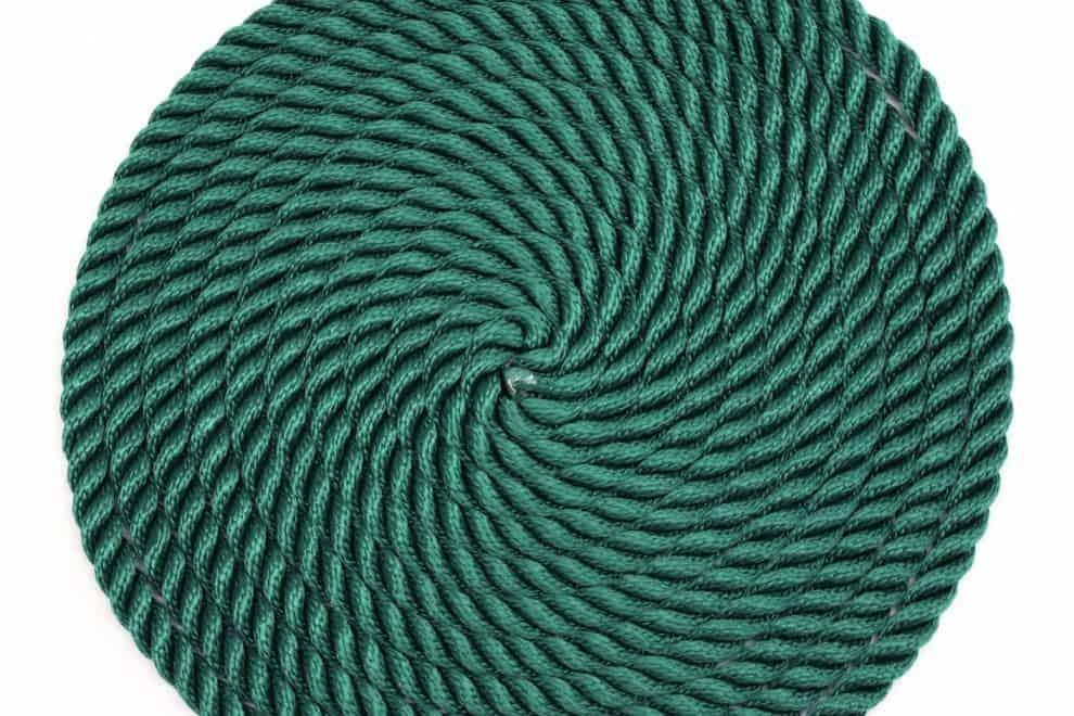 nylon braided green playground rope