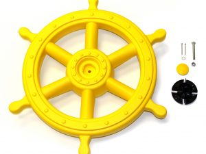large yellow steering ship
