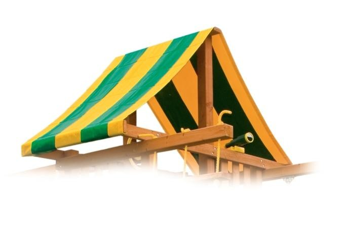 "45″ x 145 ½"" Tent Top Green & Yellow"