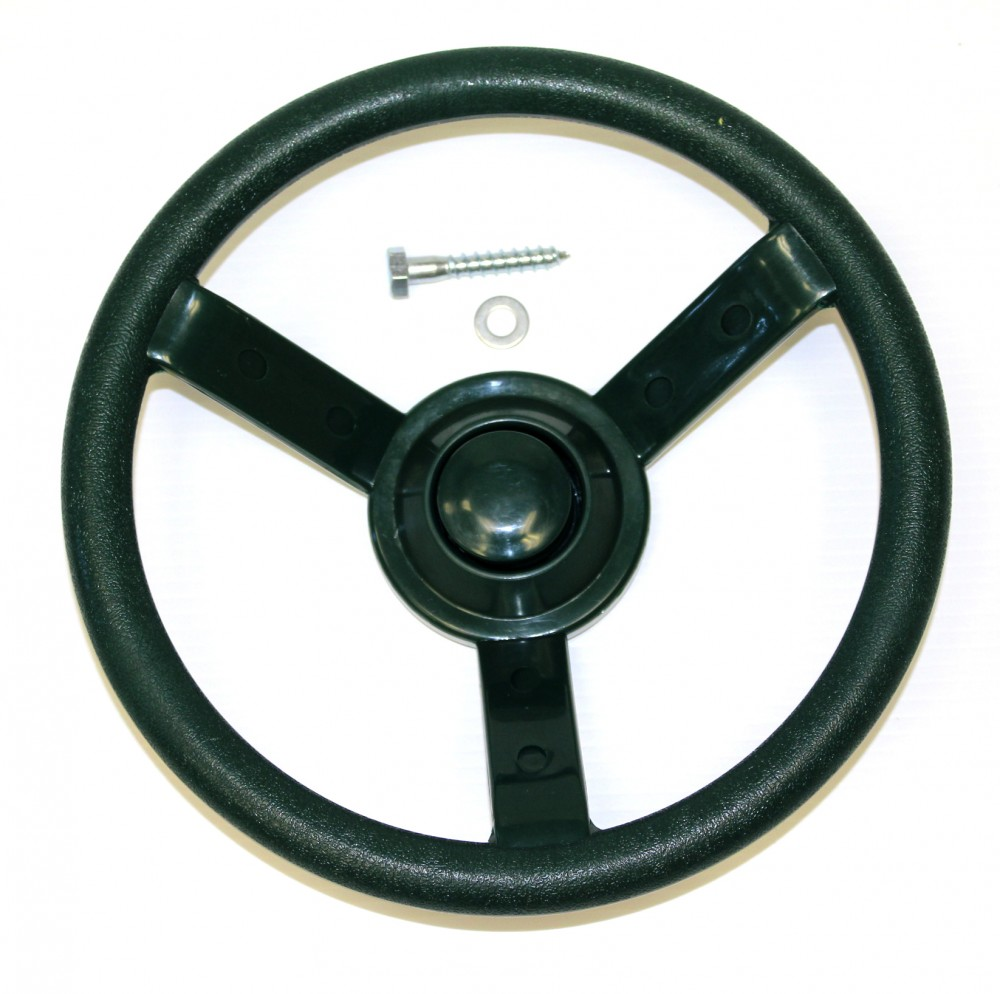 Green Plastic Steering Wheel