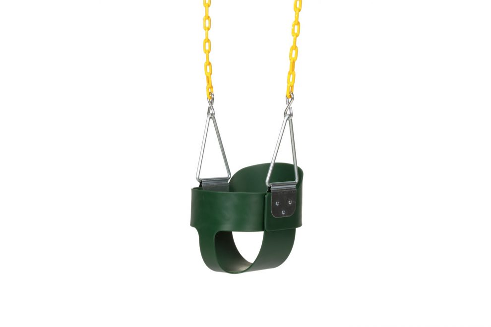 high back swing seat for playset