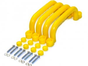 safety grab handles in yellow