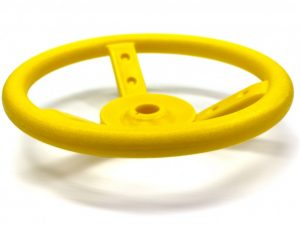 Yellow Plastic Steering Wheel