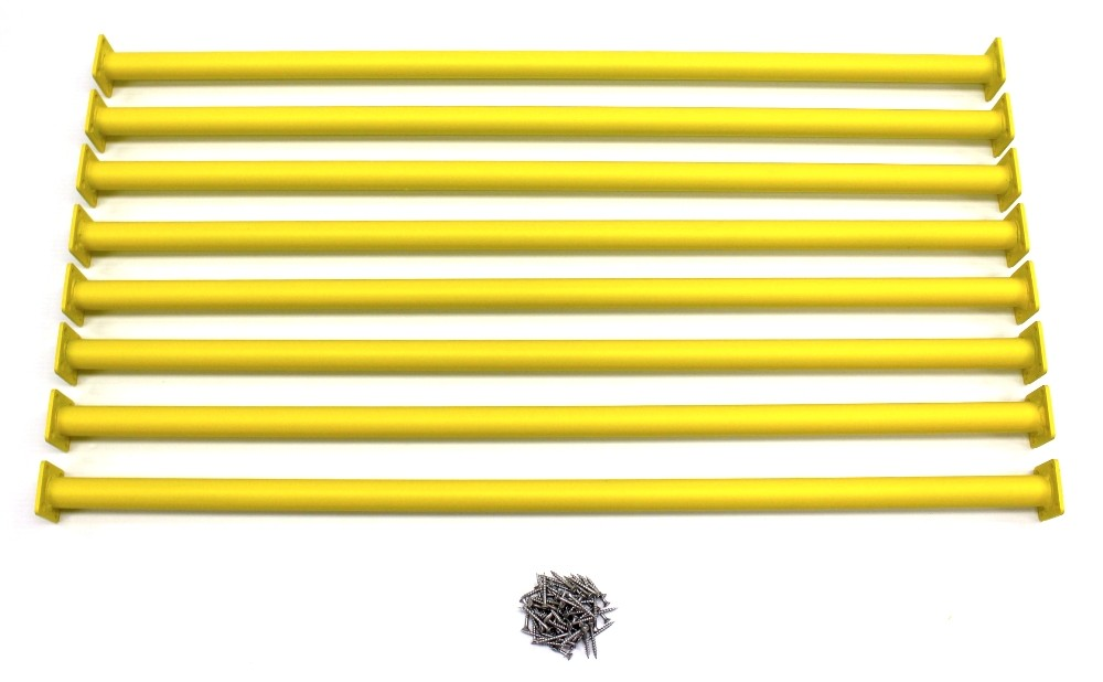 Yellow Swing Set Monkey Bar/Ladder Rung 41″ Long (Pack of 8)