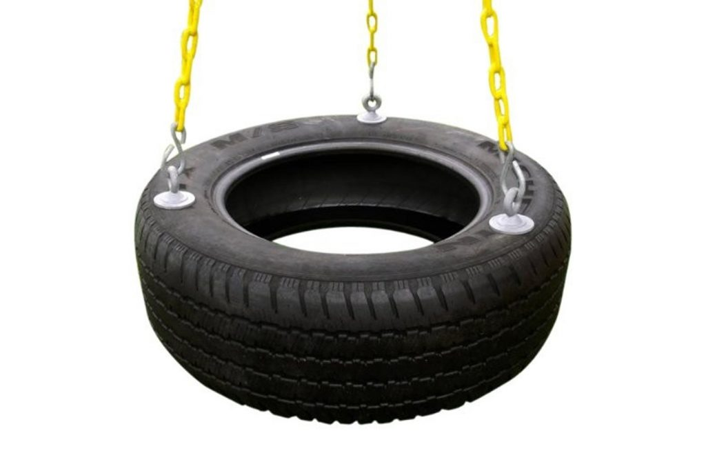 3-Chain Rubber Tire Swing