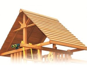 wood clubhouse roof for kids playset