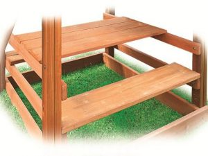 Wooden Built-In Picnic Table