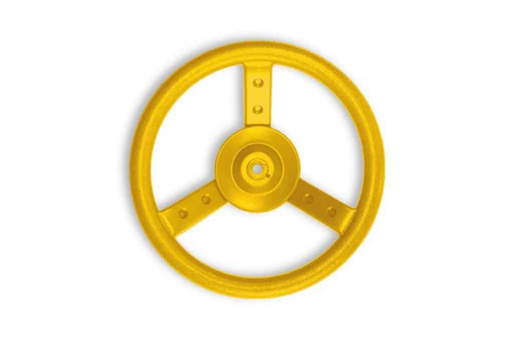 Yellow Plastic Steering Wheel