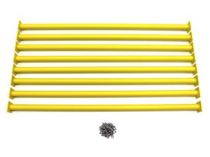 Yellow Swing Set Monkey Bar/Ladder Rung 41″ Long (Pack of 8)