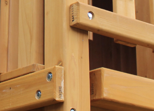 100% Cedar Construction; Sanded, Smooth Edges & Rounded Corners