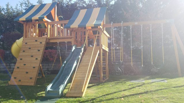 painted swing set