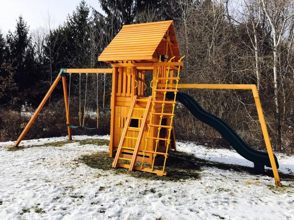 Swing Set in the snow